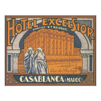 Hotel Excelsior Casablanca (Maroc), Vintage Flyer