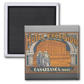 Hotel Excelsior Casablanca (Maroc), Vintage 2 Inch Square Magnet