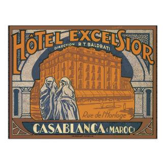 Hotel Excelsior Casablanca (Maroc), Vintage Postcard