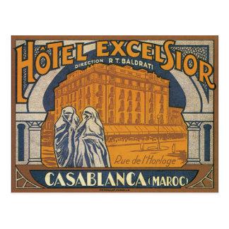 Hotel Excelsior Casablanca Postcard