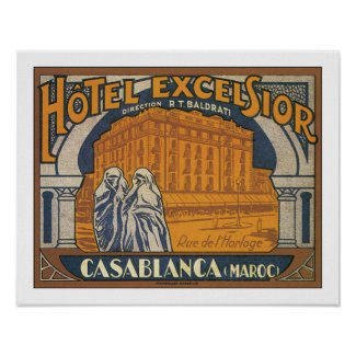 Hotel Excelsior Casablanca print