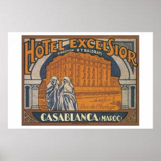 Hotel Excelsior Casablanca_Vintage Travel Poster