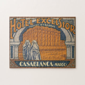 Hotel Excelsior Casablanca_Vintage Travel Poster Jigsaw Puzzle