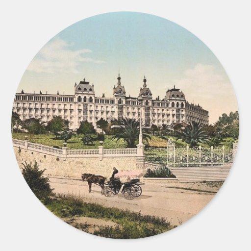 Hotel Excelsior, Regina Palace, Cimiez, Nice, Fran Classic Round Sticker