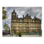 Hotel ferroviario tarjeta postal