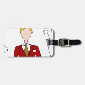 Hotel Front Desk Manager Bag Tag
