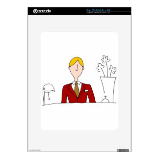 Hotel Front Desk Manager Decals For iPad