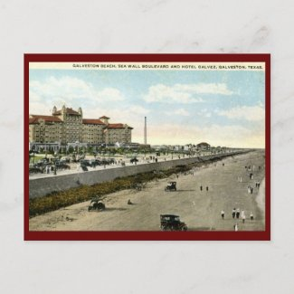 Hotel Galvez, Galveston, Texas 1924 Vintage Post Card