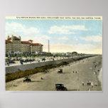 Hotel Galvez, Galveston, Texas 1924 Vintage Print