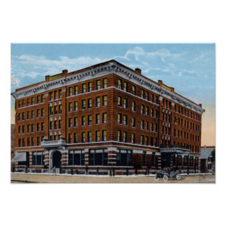 Hotel Gardner 1915 de Fargo Dakota del Norte Poster