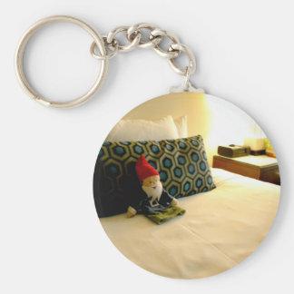 Hotel Gnome Keychain