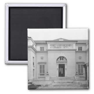 Hotel Gouthiere, courtyard fa�ade 2 Inch Square Magnet