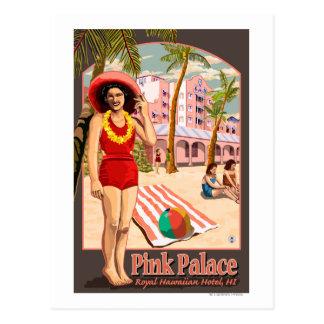 Hotel hawaiano real en Hawaii Postales
