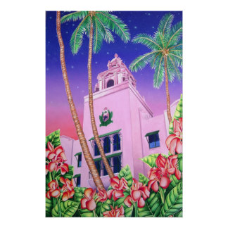 Hotel hawaiano real póster