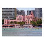 Hotel hawaiano real tarjeta de felicitación