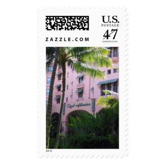 Hotel hawaiano real timbres postales