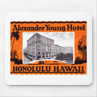 Hotel Honolulu Hawaii de 1925 jóvenes Alfombrilla De Ratones