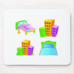 Hotel icon design mouse pads
