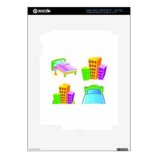 Hotel icon design iPad 3 decals