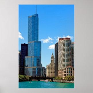 Hotel internacional y Tower® Chicago del triunfo Posters