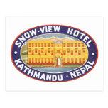 Hotel Katmandu Nepal de la opinión de la nieve Postal