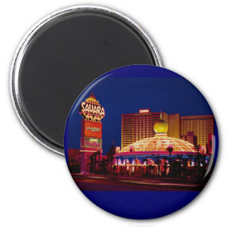 Hotel Las Vegas de Sáhara del vintage Imán Redondo 5 Cm