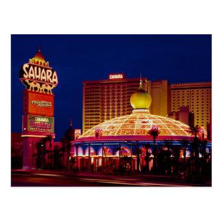 Hotel Las Vegas de Sáhara del vintage Tarjetas Postales