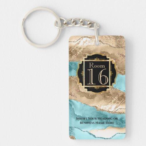 Hotel lodge resort room key agate geode marble keychain