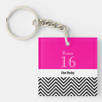 Hotel lodge resort room key (double sided) Double-Sided square acrylic keychain