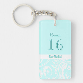 Hotel lodge resort room key (double sided rectangl keychain