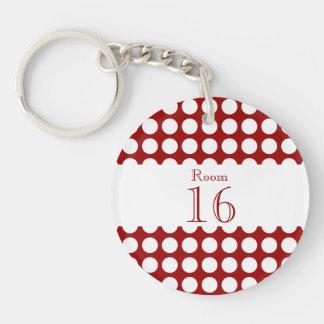 Hotel lodge resort room key Double-Sided round acrylic keychain