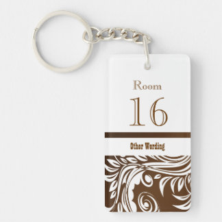 Hotel lodge resort room key Double-Sided rectangular acrylic keychain