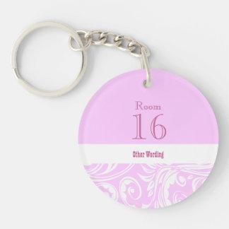 Hotel lodge resort room key (round single sided) Single-Sided round acrylic keychain