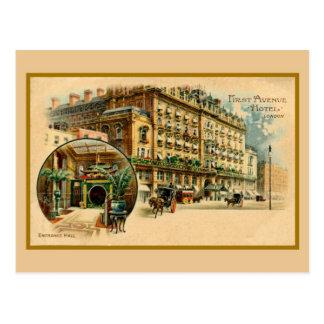 Hotel Londres de la avenida del litho del vintage Tarjetas Postales