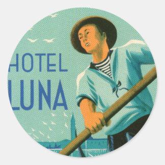 Hotel Luna Venezia Round Sticker