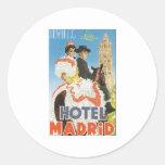 Hotel Madrid Sevilla Pegatina Redonda
