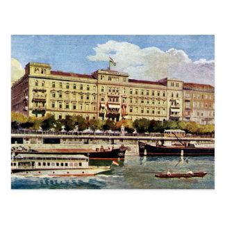 Hotel magnífico Budapest de los años 20 de la Postales