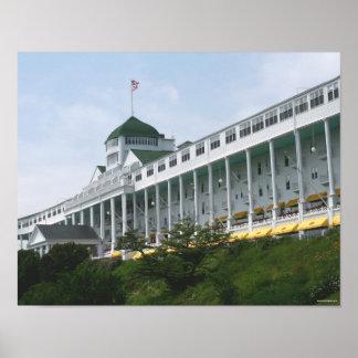 Hotel magnífico en la isla de Mackinac Póster