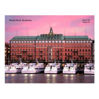 Hotel magnífico, Estocolmo, Ola de la foto… Postales