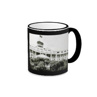 Hotel magnífico, isla de Mackinac, blanco y negro Taza De Café