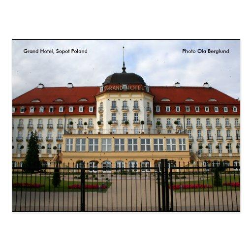 Hotel magnífico, Sopot Polonia, foto… Postales