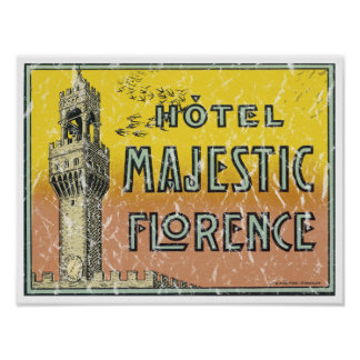Hotel Majestic - distressed Poster