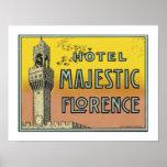 Hotel Majestic Florence (border) Print