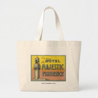 Hotel Majestic Florence Large Tote Bag