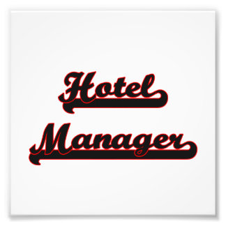 Hotel Manager Classic Job Design Photo Print