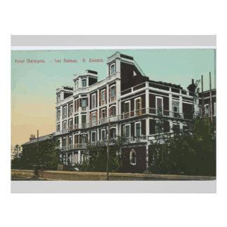 """Hotel Metropole. Los Palmas G Canaria, vintage Folleto 8.5"""" X 11"""""""