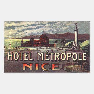 Hotel Metropole Nice France Rectangular Stickers
