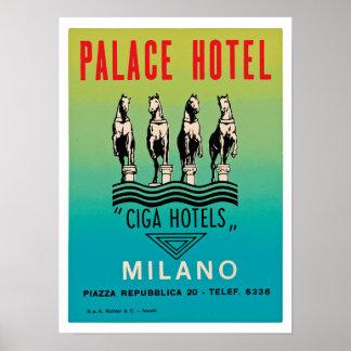 Hotel Milano del palacio Póster
