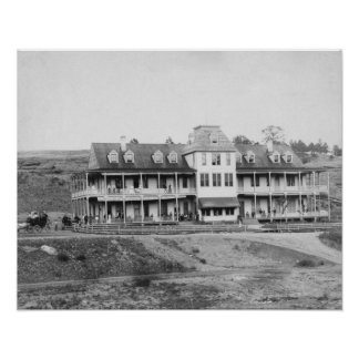 Hotel Minnekahta in Hot Springs, SD Photograph Poster