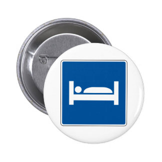 Hotel Motel Street Sign Pinback Button